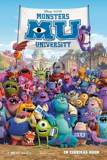 MONSTERS UNIVERSITY <span>[2D,includes short film The Blue Umbrella]</span> artwork