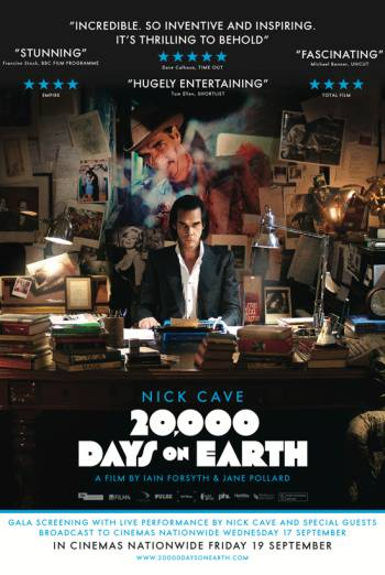 20,000 DAYS ON EARTH artwork
