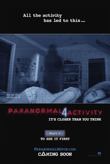 PARANORMAL ACTIVITY 4 <span>[Additional material,Audio description]</span> artwork