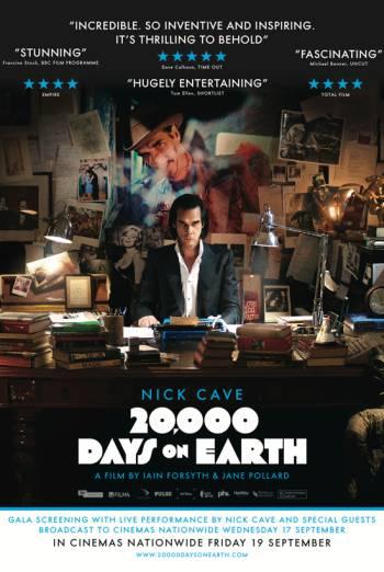 20,000 DAYS ON EARTH <span>(2014)</span> artwork