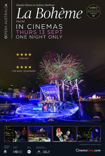 La Boheme on Sydney Harbour Poster