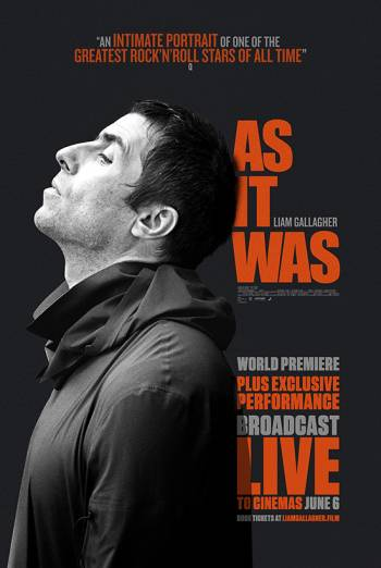 Liam Gallagher: As It Was + Live Performance Poster