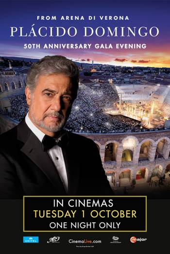 Plácido Domingo: 50th Anniversary Gala Evening Poster